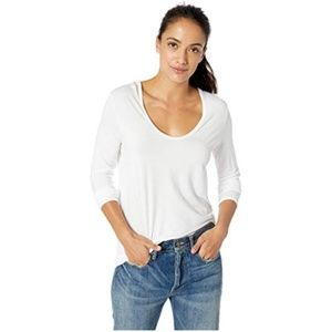 Splendid Long Sleeve Rayon Jersey Scoop T-Shirt